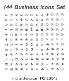 ฺ144 Business icon set Vcetor