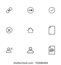 Business icon set vector line