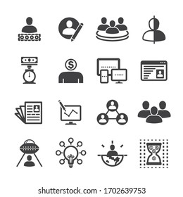 business icon set/Flat icon set design, Out line vector icon set for design.
