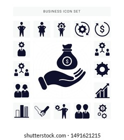 Business icon sets, Set of Business icons