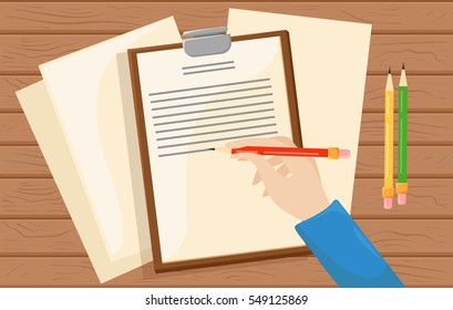 Business icon. Summary. Flat vector illustration. summary report business clipboard