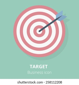 Business icon. Target. Flat vector illustration.