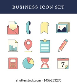 Business Icon Vector Collection for Office