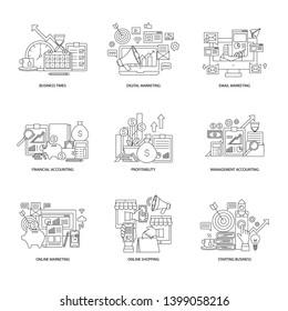 Business icon vector design no1