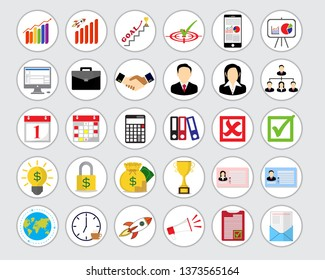 Business icon, vector and illustration