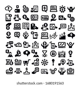 Business icons big set. Vector icons set for business, management, finance, strategy and marketing