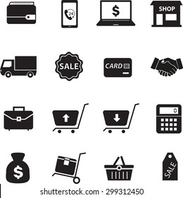 Business Icons and Ecommerce Icon set