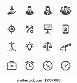 Business Icons and Finance Icons with White Background