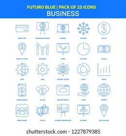Business Icons - Futuro Blue 25 Icon pack