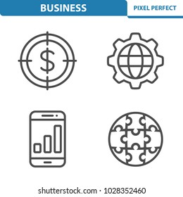 Business Icons. Professional, pixel perfect icons optimized for both large and small resolutions. EPS 8 format. 5x size for preview.