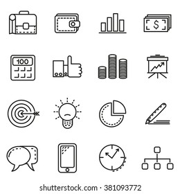 Business Icons - Set of business icons