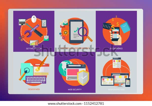 Business icons set. Icons for artwork, management, finance, strategy, marketing,vector illustration design