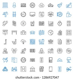 business icons set. Collection of business with airplane, currency, smartphone, news, museum, hotel, pierrade, exchange, lamp, cloud computing. Editable and scalable business icons.