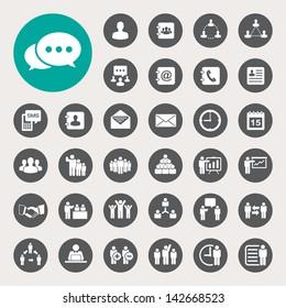 Business icons set. Illustration eps 10