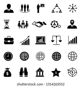 Business icons set,Collection solution outline icons include icons such as point of service