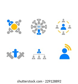 Business Icons signal man web set