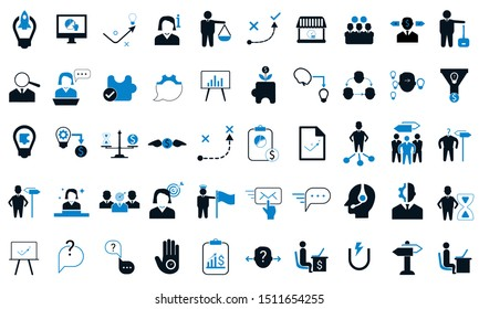 Business icons vector illustration used for website.