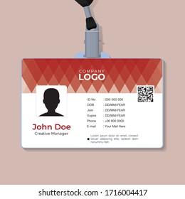 Business ID card template design