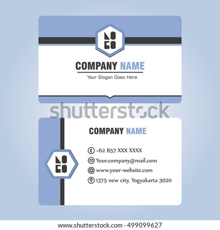 Business Id Card Template Design Stock Vector Royalty Free