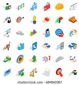 Business idea icons set. Isometric style of 36 business idea vector icons for web isolated on white background