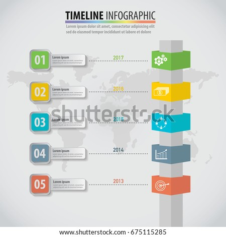 Business idea infographic multidirectional pointers on stock vector business idea infographic of multidirectional pointers on a signpost pole graph template can be used for wajeb Gallery