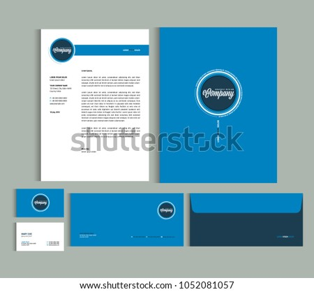 Business Identity Design Templates Stationery Set Stock Vector ...