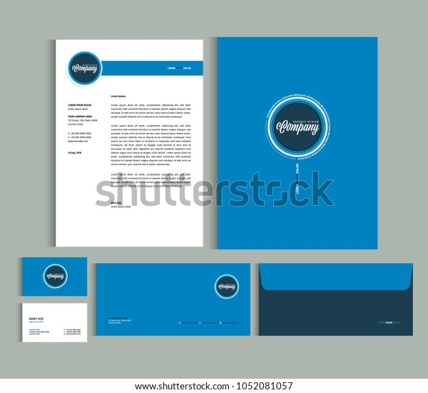 Business Identity Design Templates Stationery Set Stock Vector