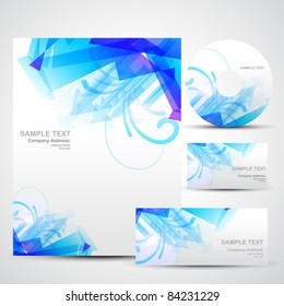 business identity template vector set