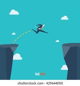 Business Illustration, Take Risk