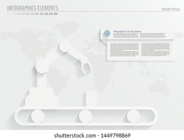 Business industry autonomous robotic technology Infographics Template