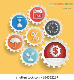 Business info graphic design,clean vector