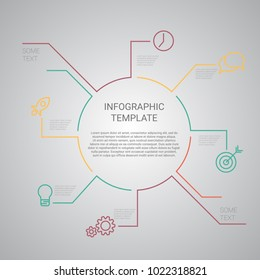 Business infografic. Vector template. Presentation.