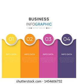 Business infographic with 4 options or steps. Vector iInfographic template for business, presentations, web design.- Vector