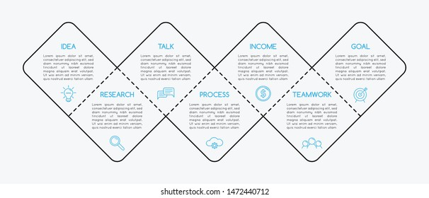 Business infographic with 7 options. Vector