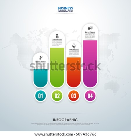 business infographic chart graph design vector stock vector royalty