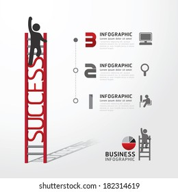 Business Infographic climbing ladder concept.vector illustration