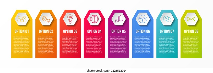 Business infographic - colourful template. Vector.