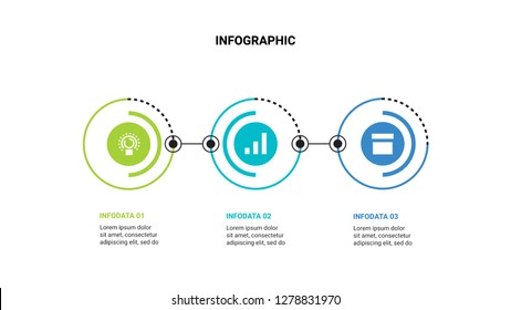 Business infographic concept with 3 option.Vector illustration.