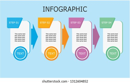 Business Infographic design template, Four colorful rectangular elements. Design by Inkscape.