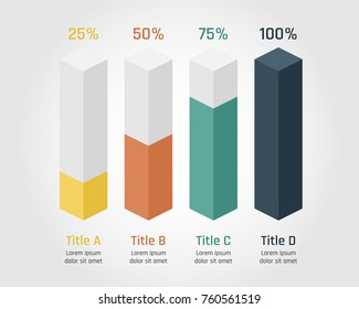 Business infographic diagram template with 4 options