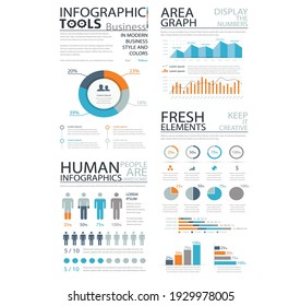Business infographic elements set. Stock trading indicator and investment analytics