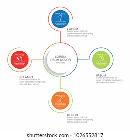 Business infographic four process or step for business presentation