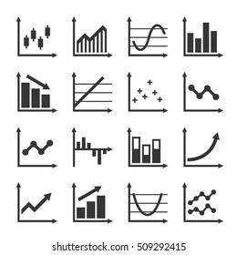 Business Infographic Graph Icons Set. Vector illustration
