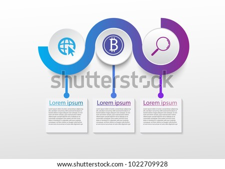 business infographic present template 3 options stock vector