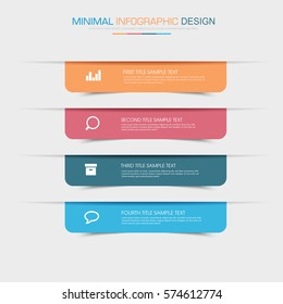 Business  infographic  template  the concept is circle option step with  full color icon can be used for diagram  infograph  chart  business presentation or web , Vector design element  illustration