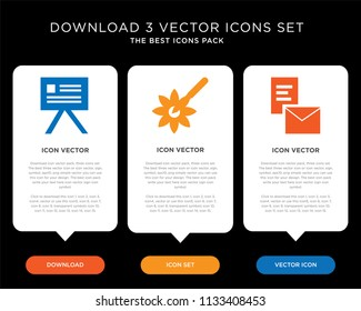 Business infographic template design with Browser, Pipette, Panel icons, editable icon set