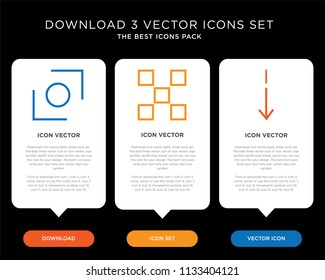 Business infographic template design with Slim down, buttons, Glide icons, editable icon set