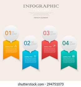 business infographic template design with step lable elements.can be used for workflow layout, diagram, number options, web design.  illustration ,EPS10
