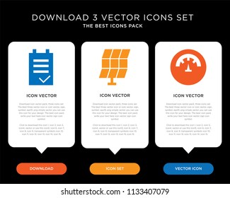 Business infographic template design with Temperature, Solar panel, Task icons, editable icon set