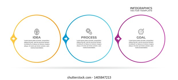 Business Infographic template. Vector design with icons and 3 options or steps.